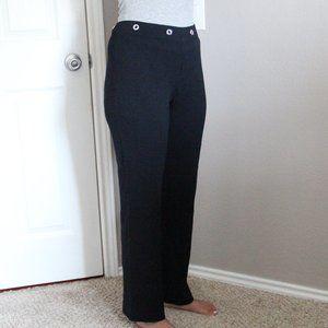St. John Sport Wool Black High Waisted Pants S